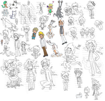 Fangame Doodles by Chimera-Tony
