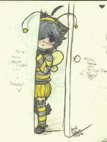 Baby bee kitten by SweetCatMint