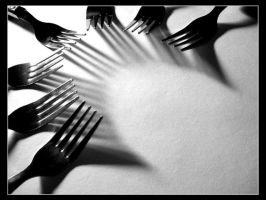 Fork Shadows by tyt2000