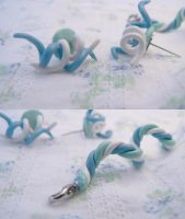 Spiral charm and earrings by melijan