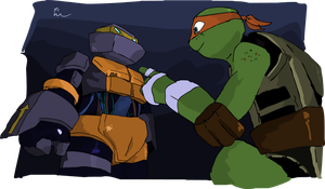 Dont touch Metalhead, Mikey! by SewerBunny