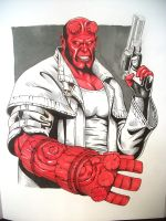 Hellboy Sketch WIP by JESUSMORALES