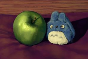 Apple + Minion by Angharlech