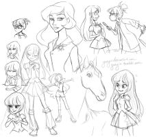Giant Equestria Girls Sketch Mash Up by Yunyin