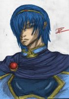 Marth - Colouring experiment by royswordsman
