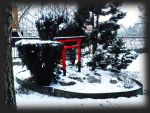 Torii in snow by HerrHans