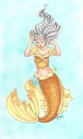 Day 2: Color a Mermaid in Opposite Colors by chelleface90