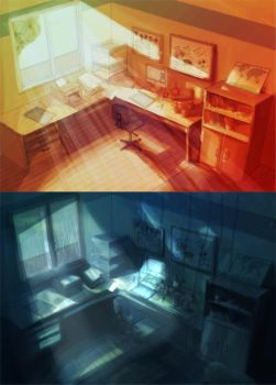 FPD: father's workspace by niku-niku