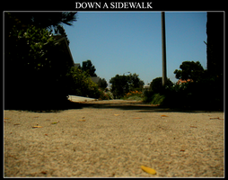 Down A Sidewalk by Malevolence42