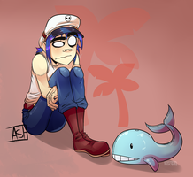 2D and the Whale Plush ||Collab|| by Ashesfordayz