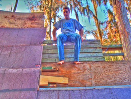 Jeff Sit on Ramp HDR Photo by ADDanny