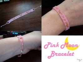 Pink Moon Bracelet by MazokuCreations
