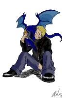 Anderson and his Dragon by MarielleWindWolf