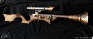Steampunk Tromblon rifle by Ethis-Crea