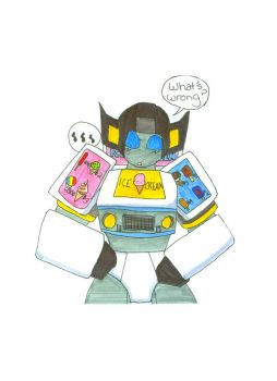 Ice Cream truck Sunstreaker by Kage-Jaganshi