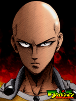 one-punch man: saitama colored by reijr