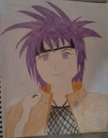 Anko and Orochimaru snake by Trissacar