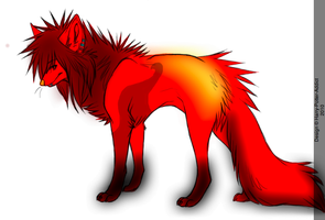 Fire Wolf Adoptable by Harry-Potter-Addict