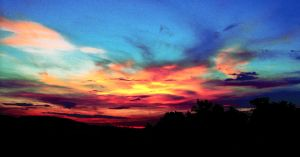 Colorful sky by Saithis