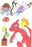 Pokemon Doodles 2 by falconfire
