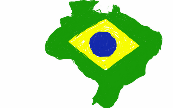 Brazil flag map by UNPSTcommandermark
