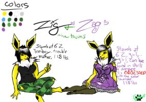 The Jolteon Twins by EveeEverwolf