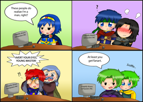 Fire Emblem reacts to Fanart by purplemagechan