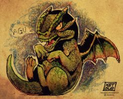 Baby Green Forest Dragon by KetsuoTategami