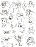 Disney Doodles by Phobic42