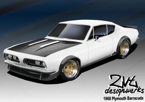 68 Plymouth Barracuda by zvtdesigns
