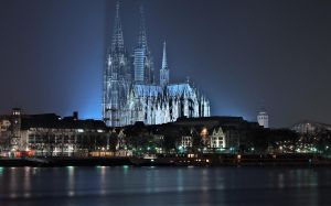 Colognes Cathedral at Night by Jay-2-the-Kay