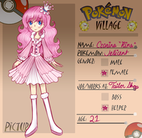 PokeVillage app- Rina the Jellicent by GoldenChase
