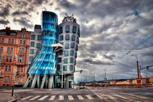 Prague, Dancing House by alierturk