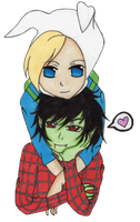 Fionna and Marshall-Lee by ashleetheadventurer