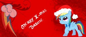 Rainbow Dash christmas signature by LiftyRainbowFennec