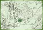 Cernunnos and Brigit by arinadream