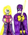 Bibleman and Rapunzel by SonicClone