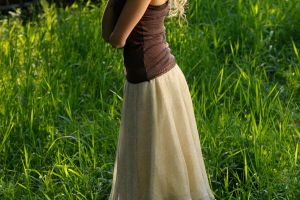 Romantic girl in nature by AngieStock