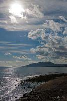 Sea and blue Sky by agelisgeo