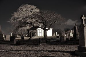 Night-time in the Cemetery by PaulMcKinnon