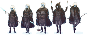White Walkers of Night's Watch by LordCyfe