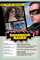 Ravenwood Masks -leather masks by Alyssa-Ravenwood