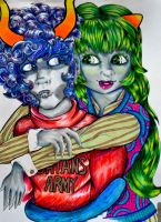 Homestuck: Kurloz And Muelin by nicole-m-scott