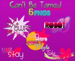 Can'tBeTamed 5 Png's by shineditions