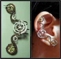 Steampunk Mercedes ear cuff by Meowchee
