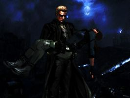 Jill and Wesker by xkalipso