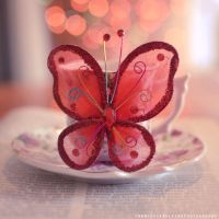 Red butterfly by FrancescaDelfino