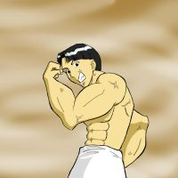Buff Man in color. by Carina-chan