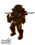 Armored Krogan oc commission for RoluevasVasReisa by DeepSqwid