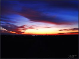 sunset in france by jef-photos